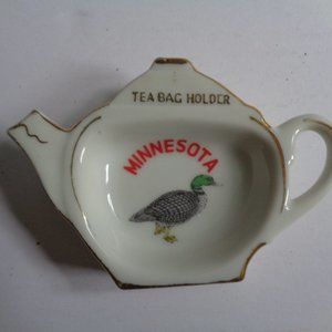 Vintage MINNESOTA Tea Bag Holder,  Made in Japan